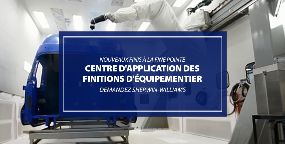Centre d'application des finitions d'équipementier